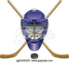 Ice Hockey Puck Clip Art | Stock Illustrations - Ice Hockey Goalie Mask Sticks Puck. Stock ...
