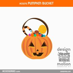 ACS070_PumpkinBucket. Part of D&M Character Kit. Pumpkin Bucket, After Effects Templates, Motion Graphics, Pumpkin Carving, This Or That Questions, Kit, Blog, Character, Accessories