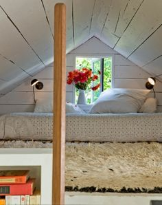 Bed In An Attic Nook (via Desire To Inspire - Tinyhouse)