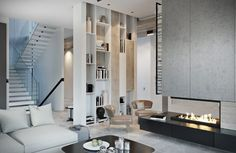 A Modern Residence with Simple Details Designed by MOPS Architecture Studio in Moscow, Russia