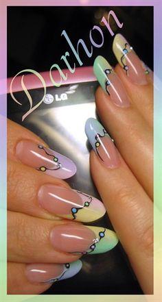 rainbow #nail #nails #nailart