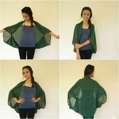 So many capsule wardrobes use scarves to add interest. How about this? You could still use it as a scarf tomorrow