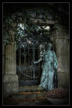 Unterbarmer Cemetery in Wuppertal, Germany....SEEMS TO BE SAYING,........COME, PASS THREW THE GATE TO SEE THE FATHER........JUST BEAUTIFUL
