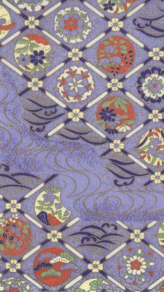 Japanese Textiles, Japanese Prints, Japanese Design, Chinese Patterns, Japanese Patterns, Japanese Paper, Japanese Fabric, Textile Patterns, Textile Art