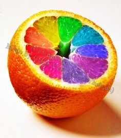 Orange rainbow by *Thalyda Rainbow Room, Love Rainbow, Taste The Rainbow, Over The Rainbow, Rainbow Colors, Rainbow Stuff, Rainbow Palette, Bright Colours, Rainbow Connection