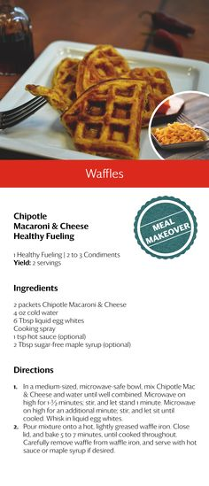 Chipotle Macaroni and Cheese Waffles
