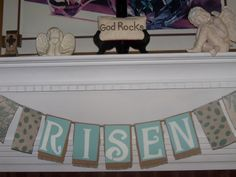 Angel Diann's Emporium HE IS RISEN! Easter Garland, He Is Risen, Banner, Faith, Decor, Picture Banner, Decorating, Banners, Inredning