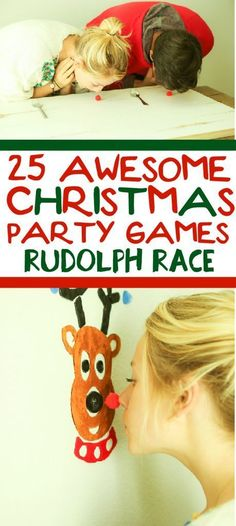 25 funny Christmas party games that are great for adults for groups for teens and even for kids! Try them at the office for a work party at school for a class party or even at an ugly sweater party! I cant wait to try these for family night this Chr Funny Christmas Party Games, Xmas Games, Holiday Games, Holiday Fun, Christmas Party Ideas For Adults, Christmas Decorations Diy For Teens, School Christmas Party, Holiday Foods, Christmas Games For Adults Holiday Parties