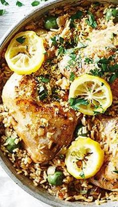 Sally Obermeder s One-Pot Greek Lemon Chicken and Rice - Yahoo7