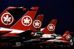 Classic Air Canada livery tails