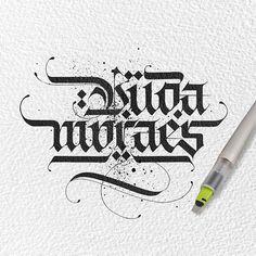 Tattoo design for Duda Moraes @brunomoraesbodybuilder ....I feeling crazy . #lalitmourya207 #brunomoresbodybuilder #calligraphymasters #typegang #handmadefont #goodtype #tattodesign #pilotparallelpen Follow @lalit.mourya207