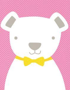 Bow Tie Teddy Canvas Art
