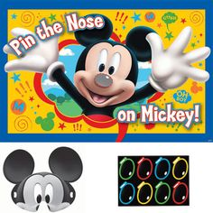 Mickey Mouse Pin the Nose Party Game - Mickey Mouse 1st Birthday Kids Party Supplies at up to 50% off with Same Day Processing & Free Shipping from Parties4Kids