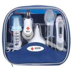 $16.95 - Safety First!Includes:• nasal aspirator• digital thermometer with case• soft tip medicine dispenser• comfort tip medicine spoon with cap• magnifying nail clipper• deluxe travel/storage bag• wellness• baby care • and safety guide.Check out all our baby toys!