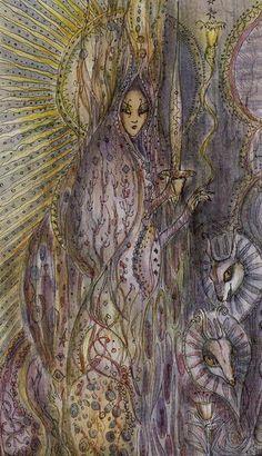 La reine d'épées - Tarot Paulina par Paulina Cassidy