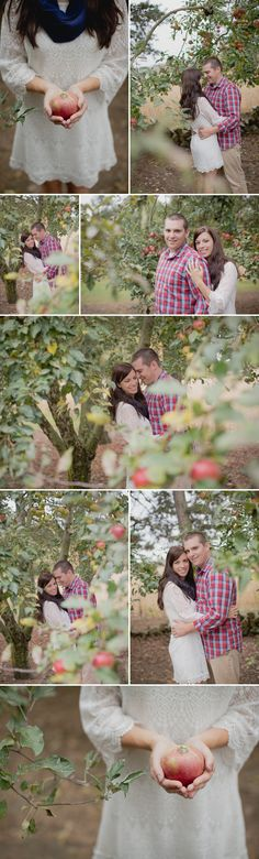 Apple Orchard Engagement Session // Photos by Brittany and Devin Photo Co.
