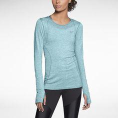 Nike Dri-FIT Knit Long-Sleeve Women's Running Shirt. SE LINK: http://www.stadium.dk/sport/lob/lobetoj/204630/nike-mpt-w-df-knit-ls?SelectedProductUUID=mFLCROin3skAAAFIb5sn6WH1#.VD6mVBbg19w.  Sort, str. xs
