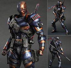 Square Enix Play Arts Kai Batman Arkham Origins: Death Stroke PVC Figure
