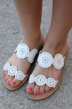 White Medallion Jack Rodgers Inspired Sandal AMILIA | UOIOnline.com: Women's Clothing Boutique