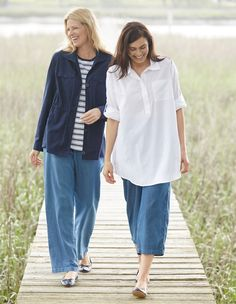 Look what's cropping up!  Plus Size fashion from Woman Within.