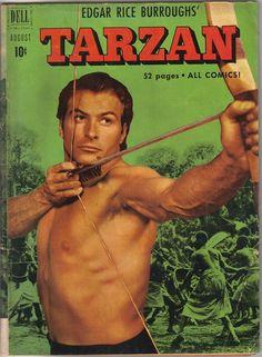 Edgar Rice Burroughs' Tarzan (Aug Dell) for sale online Old Comic Books, Vintage Comic Books, Vintage Comics, Tarzan, Nostalgia, Old Comics, Male Form, Cover, Sexy Men