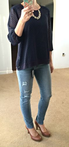 Stitch Fix: Just Black Riley Distressed Skinny Jean - love the jeans!! But in a darker shade maybe
