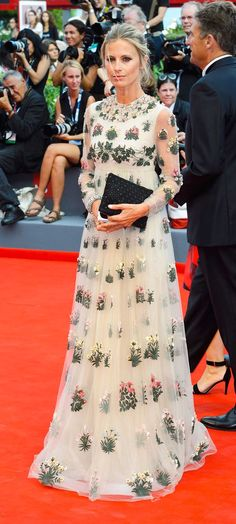 Laura Bailey in a mesmerizing Valentino gown attends the 2015 Venice Film Festival Opening Ceremony.
