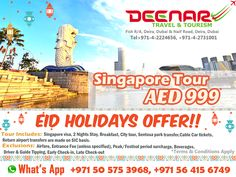 Deenar Travel and Tourism: Singapore Tour Package -  AED 999