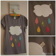 Una samarreta bàsica de C&A, 3'90€.     Una samarreta bàsica de C&A amb una aplicació de la mama,   no té preu.         Amb la de la flor i...