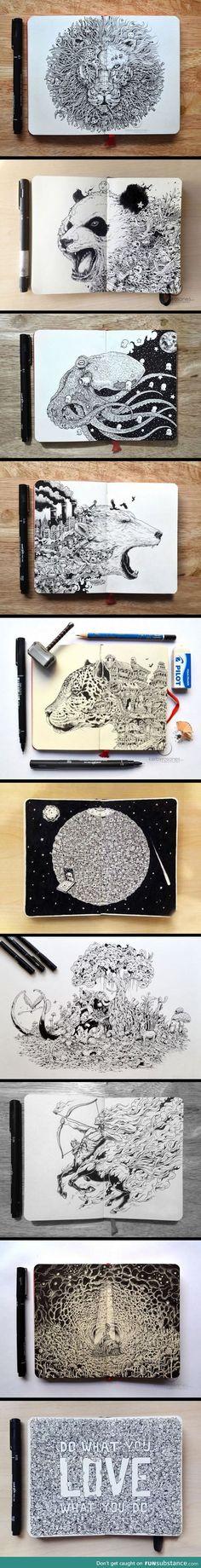 Hyper-detailed drawings