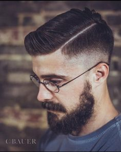 Classic Mid-Contour Cut by Nick Roberson. Also a good Beard Mens Haircuts 2015, Hair And Beard Styles, Short Hair Styles, Gentleman Haircut, Beard Haircut, Boy Hairstyles, Boy Haircuts, Hairstyle Men, Formal Hairstyles