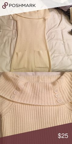 Sweater dress Never wore before no stains falls off the shoulder and is fitted to your curve to give the yummy look Forever 21 Dresses