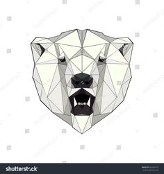 illustration of a polar bear in a triangular style
