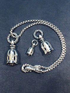 MF Pendant: Silk Bell -Large- \105,840-   名前にSILKとある通り、美しく鏡面に磨きあげられたベルペンダント。  http://ameblo.jp/loneones-blog/entry-12118404351.html
