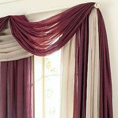 scarf valance measures 48wx216l sold hang with a