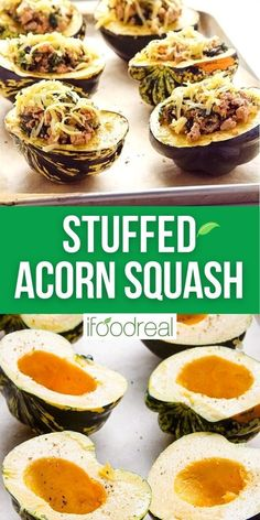 Nothing screams fall cooking like this Turkey Stuffed Acorn Squash. This recipe is made with ground turkey meat, spinach and the perfect blend of spices. Plus I share how to cut an acorn squash without losing a finger! Healthy Meal Prep, Healthy Recipes, Acorn Squash Recipes, Ground Turkey Recipes, Meal Prep For The Week, Family Meals, Spinach, The Best, Finger