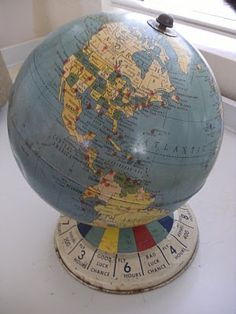 My knowledge of geography is embarassing.  I would love a globe to help me see how everything is located in relation to eachother..