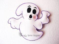 4 Fantasmas de Foamy o goma eva para Halloween | DIY |