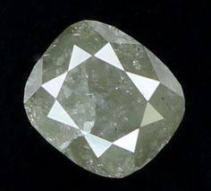 0.93 Ct Natural Loose Diamond Cut Cushion Shape Grey Color 5.33X4.70X3.90 MM L7752