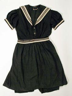 Beachwear (Bathing Suit)  Date: ca. 1900 Culture: American Medium: wool Dimensions: Length at CB (a): 44 in. (111.8 cm) Length at CB (b): 25 1/2 in. (64.8 cm)