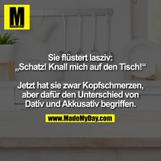 Dativ Und Akkusativ, Man Humor, Haha, How To Make Money, Funny Pictures, Geek Stuff, Quotes, Funny Stuff, Instagram