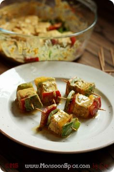 Monsoon Spice   Unveil the Magic of Spices...: Tofu Tikka Recipe   Grilled or Pan Fried Tofu in Spicy Yogurt Marinade