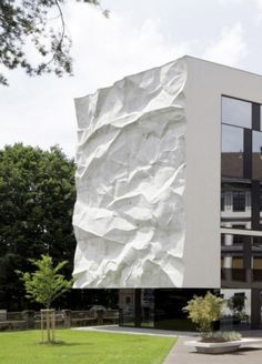 Check this out on leManoosh.com: #Architecture #Concrete #Embossed / Debossed #Organic #Part Line #Texture #White