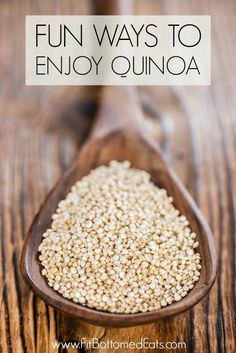 Bet you didn't know you could use quinoa like this!