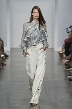 Zimmermann Spring 2017 Ready-to-wear collection Australia designer new york fashion week collection style runway Cavalier Antique Shirt, Cavalier Snap Pant, Lace Up Ankle Boot