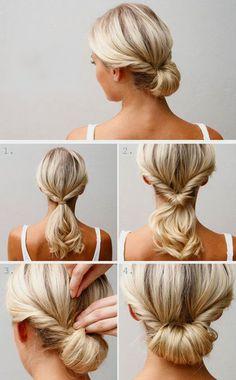 собрать средние волосы в прическу быстро