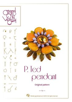 *P pendant tutorial / pattern P. Ted pendant...PDF instruction for personal use only