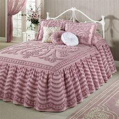 $199 Intrigue Ruffled Chenille Grande Bedspread
