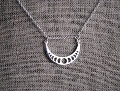 MOON PHASES all sterling silver necklace clasp and length choice by srgoddess