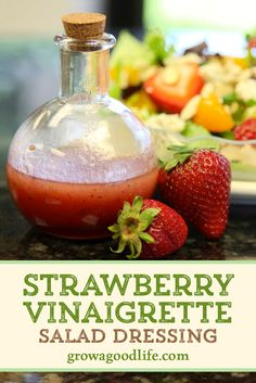 With just a few simple ingredients, this strawberry vinaigrette salad dressing is easy to whip up in a blender or food processor. Visit for full recipe and process. Fruit Dressing, Vinaigrette Salad Dressing, Salad Dressing Recipes, Strawberry Vinaigrette Dressing Recipe, Sweet Salad Dressings, Healthy Salad Dressings, Mixer, Food Processor Recipes, Easy